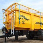 ŽEMAITUKAS Z-19 grūdų priekaba skirta biriems kroviniams transportuoti