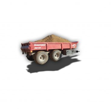 MUSTANG MD130 heavy duty dump trailer for sand