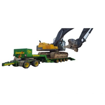Žemaitukas ML-500T žemagrindė platforma, tralas prie traktoriaus