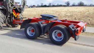Žemaitukas ML-500T tralas prie traktoriaus ypač dideliems ekskavatoriams