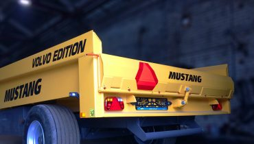 MUSTANG MD-60 heavy duty dump trailer for sand